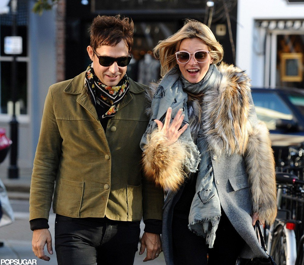 Kate Moss and Jamie Hince stepped out together in London.
