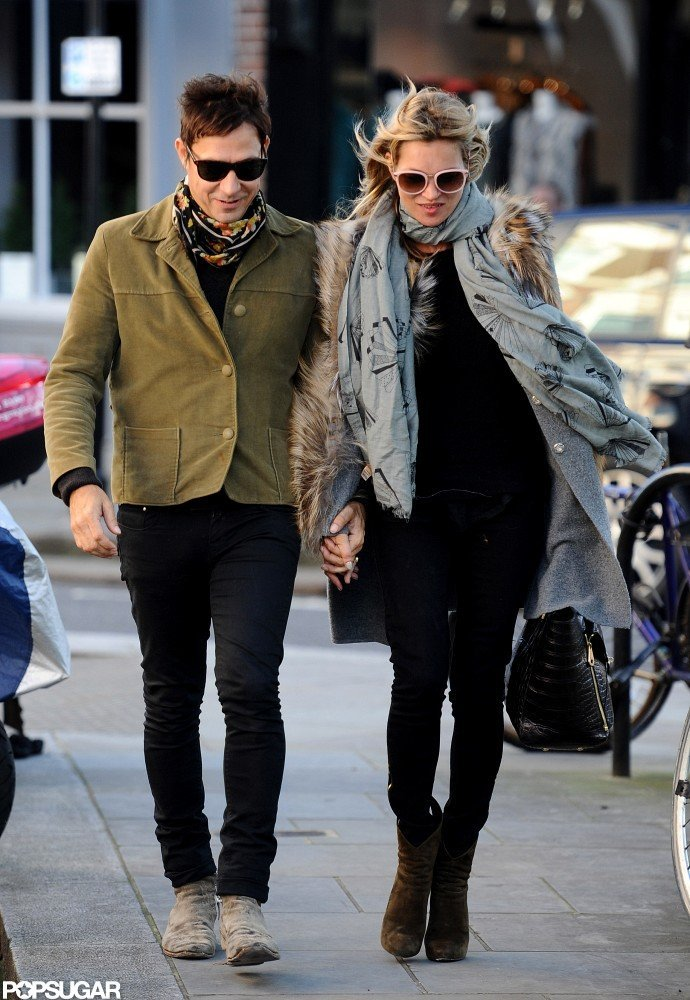 Kate Moss and Jamie Hince strolled in London