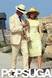 Kirsten Dunst and Viggo Mortensen took a stroll while filming in Greece.