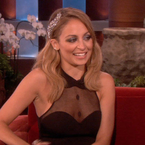 Nicole Richie Sniffs Shirtless Male Models on The Ellen Show