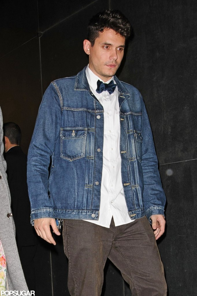 John Mayer wore a bow tie for an evening out in NYC