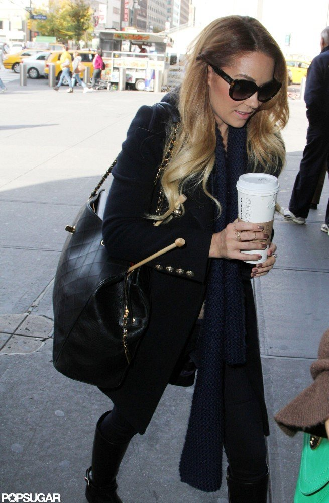 Lauren Conrad went to an NYC train station.