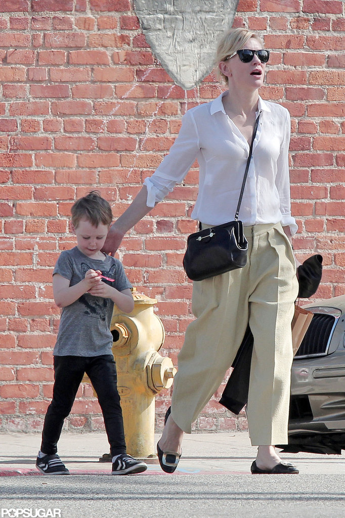Cate Blanchett walked around LA with her son.