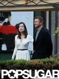 Olivia Wilde and Liam Neeson filmed a scene together in Rome.