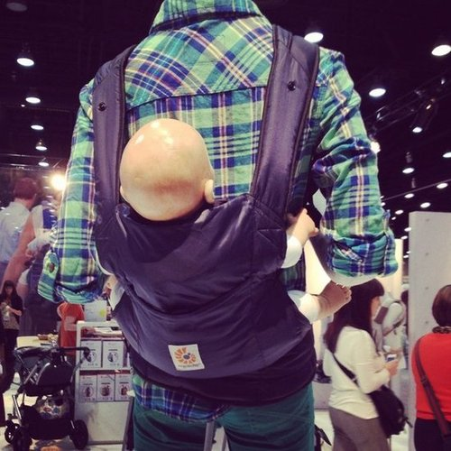 Ergobaby will introduce the Stowaway, a lighter baby carrier that packs right into the stroller.