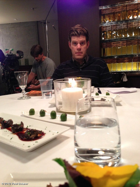Paul Scheer snapped a shot of Stephen Rannazzisi from this week's episode of The League. Source: Paul Scheer on WhoSay