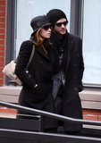 Jessica Biel and Justin Timberlake wore matching hats in NYC in February 2010.