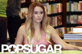 Lauren Conrad sat at a table at Barnes & Noble.