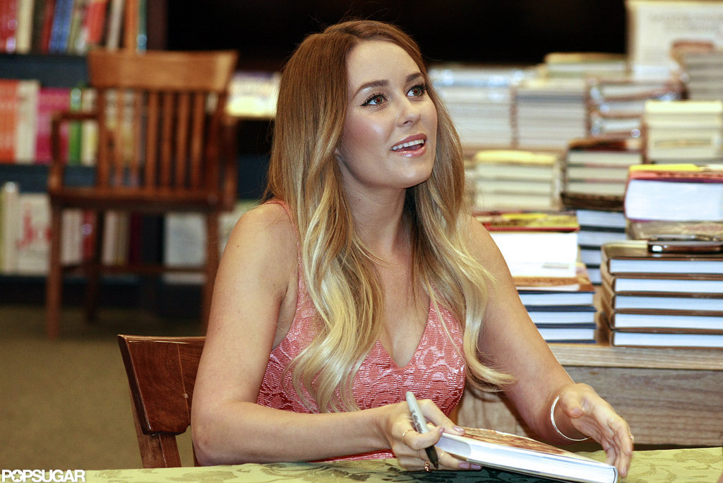 Lauren Conrad signed a book for a fan.