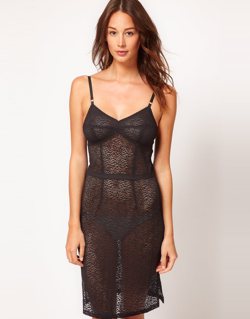 Wear this Elle Macpherson Safari Style Chemise ($121) to feel instantly sexy. We also love the idea of this lacy hemline layered with a soft, menswear-style knit.