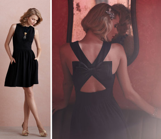 Little Black Dress With Bow in Back