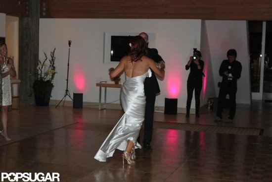 Elisa Donovan and Charlie Bigelow shared a first dance.