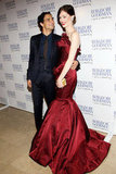 Coco Rocha and Zac Posen posed for photos in NYC.