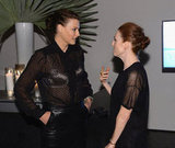 Julianne Moore and Linda Evangelista chatted at the awards.
