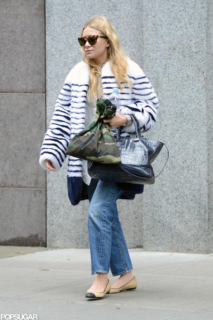 Ashley Olsen had her hands full as she shopped in SoHo.