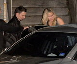 Kate Hudson and Matt Bellamy hopped in a car.