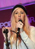 "Ellie Goulding wore a beanie on stage and told the crowd she loves dressing for Winter because she likes to feel ""cozy."""