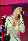 Ellie Goulding performed at the new PopSugar studios.