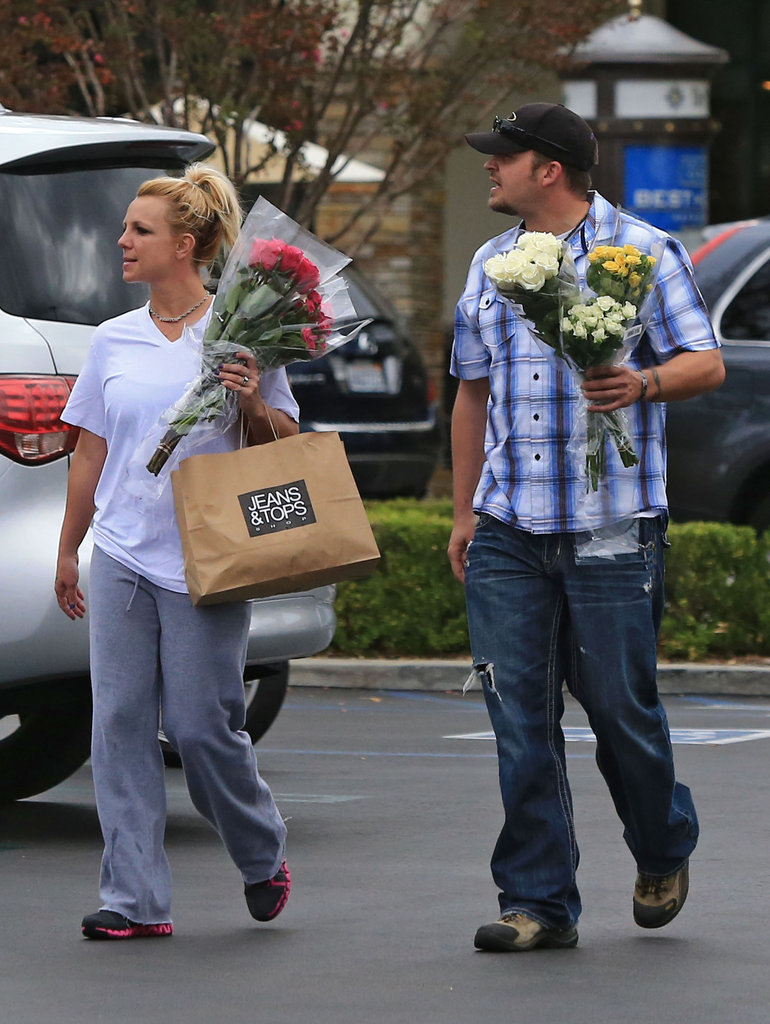 Britney Spears made a trip to Gelson's with a friend.