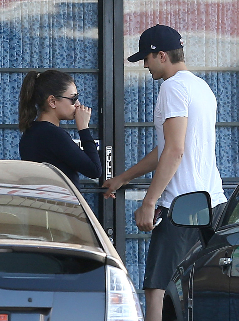 Ashton Kutcher and Mila Kunis went to a foot spa.