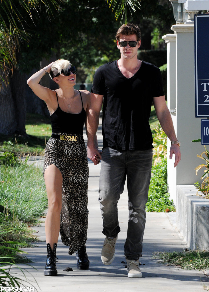 Miley Cyrus and Liam Hemsworth got some sun.