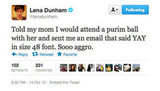 Lena Dunham's mum sounds like someone we'd like to hang out with.