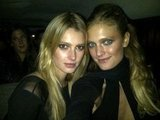 Models Sigrid Agren and Constance Jablonski hung out at the Mario Testino exhibition opening in Boston. Source: Facebook user Constance Jablosnki