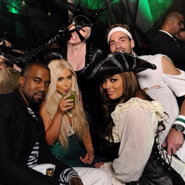 Kim Kardashian and Kanye West partied with friends in NYC.  Source: Instagram user kimkardashian