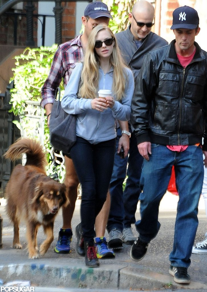 Amanda Seyfried and Desmond Harrington grabbed a coffee together in NYC.