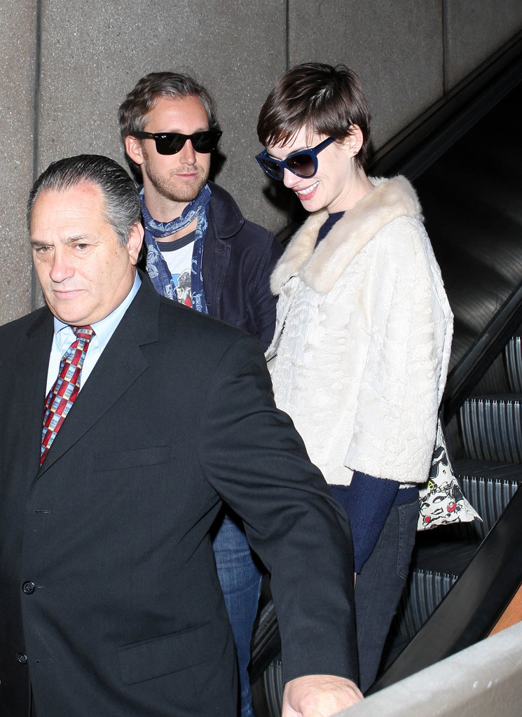 Anne Hathaway and Adam Shulman returned from their honeymoon.