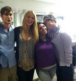 Chace Crawford, Blake Lively, and Ed Westwick got together on their final day.  Source: Facebook user Chace Crawford