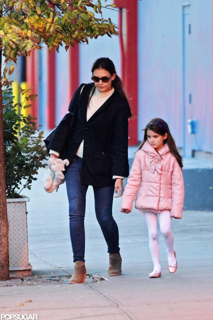 Katie Holmes and Suri Cruise Wrap Up a Busy Weekend