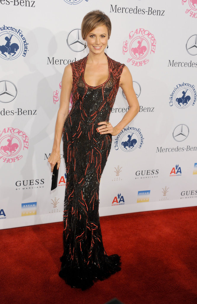 The Monique Lhuillier gown was made for Keibler.