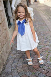 White Linen Bow Dress
