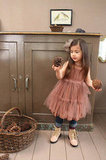 Chiffon Light Brown Dress