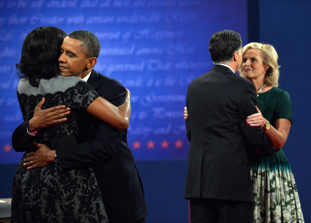 Michelle Obama and Ann Romney Stand by Their Men at Final Debate