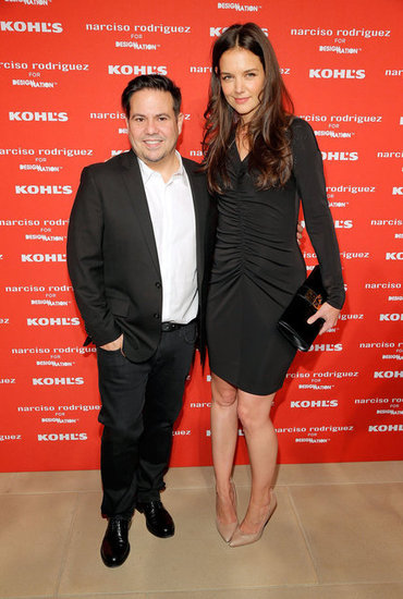 Katie Holmes posed with designer Narciso Rodriguez at his Kohl's collection launch party in NYC.