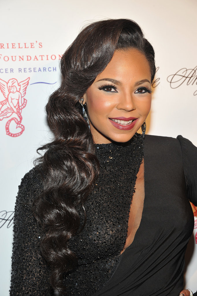Ashanti chose a cutout gown for the event.