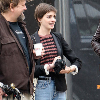Anne Hathaway Leaving Recording Studio | Pictures