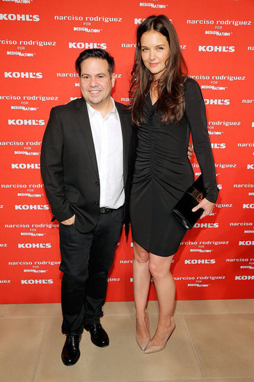 Katie Holmes smiled with Narciso Rodriguez at his Kohl's collection launch party in NYC.