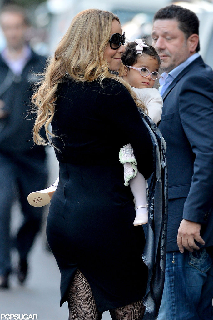Mariah Carey snuggled Monroe Cannon close.