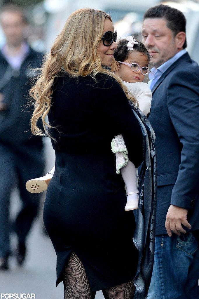 Mariah Carey snuggled Monroe Cannon close.