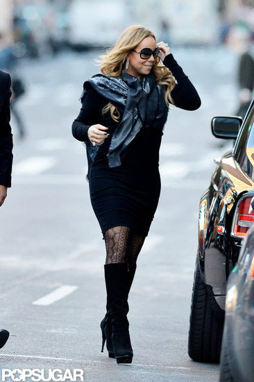 Mariah Carey rocked knee-high boots.