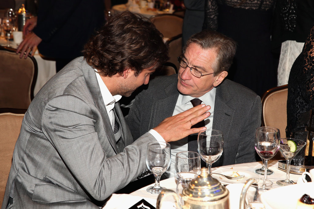 Robert De Niro and Bradley Cooper chatted at the gala.