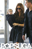 Victoria Beckham and Harper Beckham left NYC.