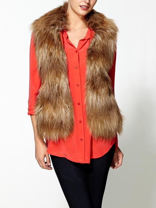This Jack by BB Dakota Faux Fur Vest ($69) is so Penny Lane — throw it on over everything from dresses to sweaters to a t-shirt and jeans.