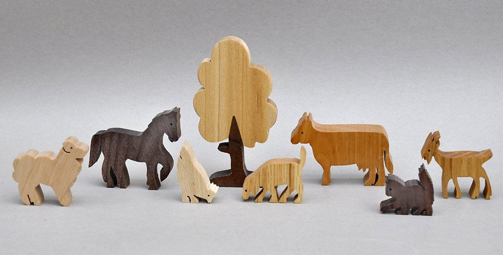 Wooden Farm Animal Set