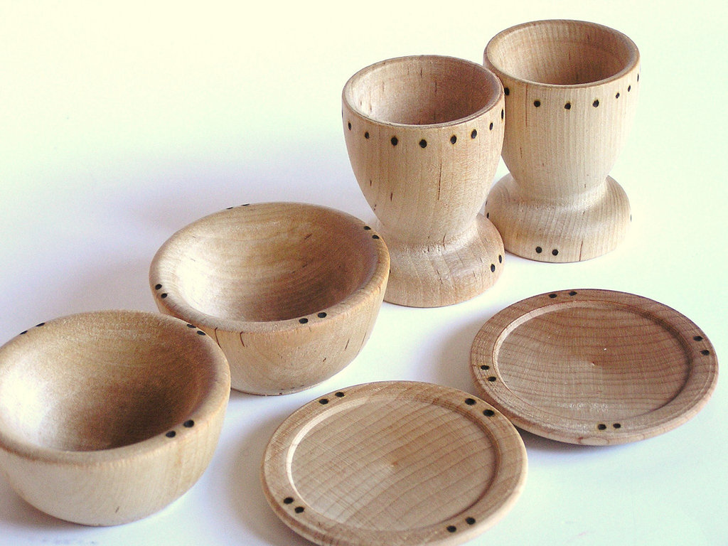 Wooden Dish Set