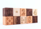 10-Piece Organic Numbers and Shapes Block Set