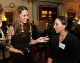 Kate Middleton went to a reception for members of Team GB's Olympic  medalists in London.